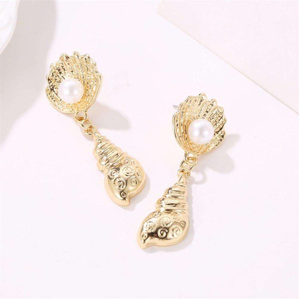 Fashion Women Conch Shape Dangle Drop Pendant Earrings Jewelry Accessories Gift in Drop Earrings from Jewelry Accessories