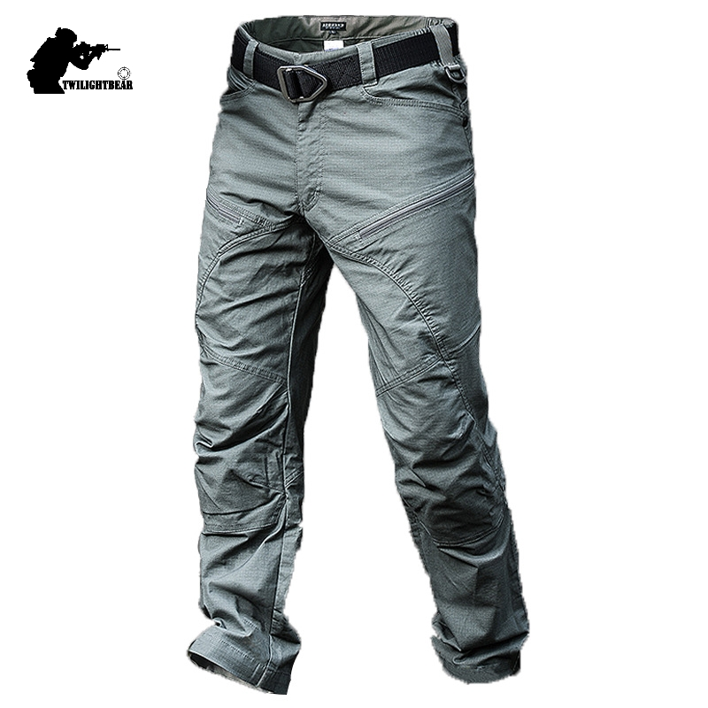 Brand New Men's Tactical Pants Male Army Combat Uniforms Morality Waterproof Cargo Pant Men High Qualtiy Overalls BY311