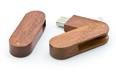 Pöörlev puidust USB-mälupulk 64GB 128GB 16GB 32GB USB 2.0 pliiatsi - Väline salvestus - Foto 2
