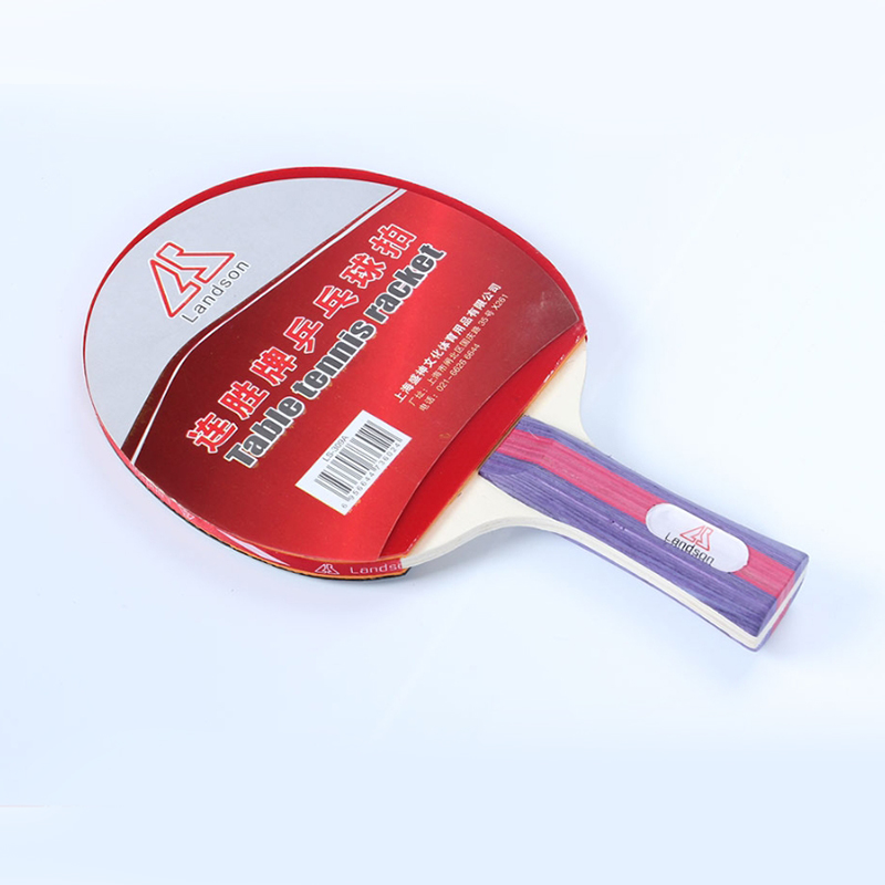 Lands On Table Tennis Set Bat Pure Wood Pimples In Table Tennis  Straight Grip Heavy Top Light Handle