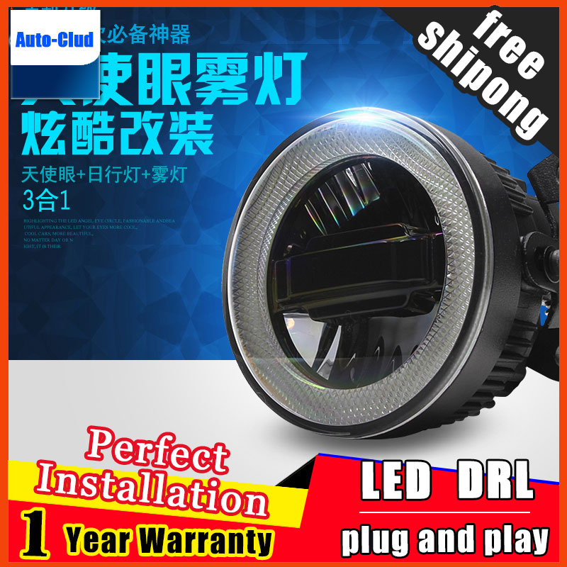 Стайлинг автомобиля, дневной ходовой светильник для RENO SX4, светодиодный противотуманный светильник, противотуманная фара Angel Eye, светодиодн