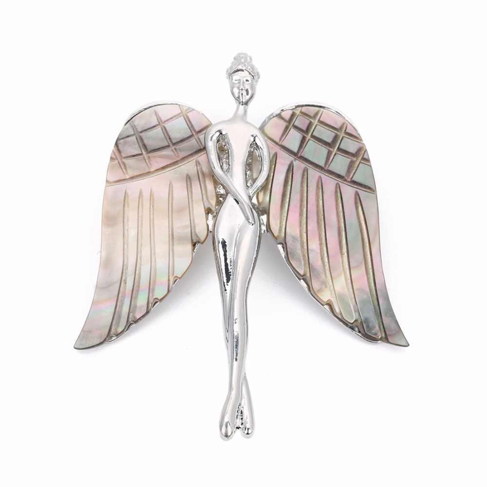LOULEUR เปลือก Angel สร้อยคอจี้สีขาว Wing Charm จี้เครื่องประดับของขวัญผู้หญิง