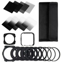 Zomei 13 in 1 ND2 4 8 16 Square filter kit for Cokin P + filter Holder + Hood + Adapter Rings