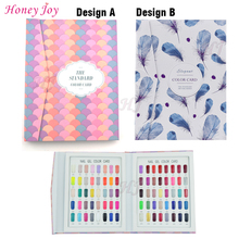 1 set Professional 80 Colors Fan-shaped or Feather Pattern Nail Gel Polish Display Card Book Chart w False Nail Tips Art Salon