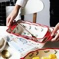 1 шт. красная вишня  тарелка для выпечки  керамические обеденные блюда  европейский стиль  столовая посуда  противень  посуда  обеденная таре...