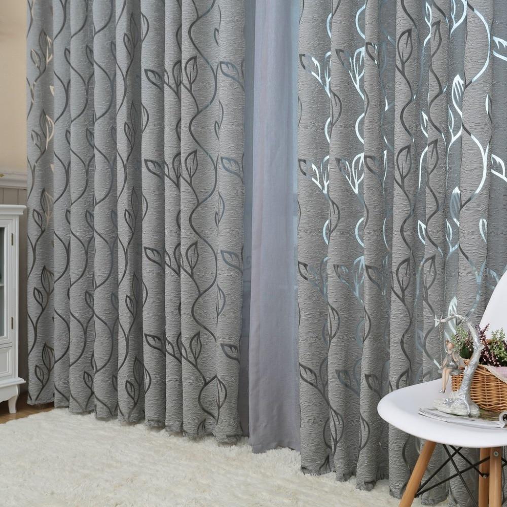 Aliexpress Compre NAPEARL Modern Decorative Curtains Jacquard Gray Window Curtain For Bedroom Blind De Confianca