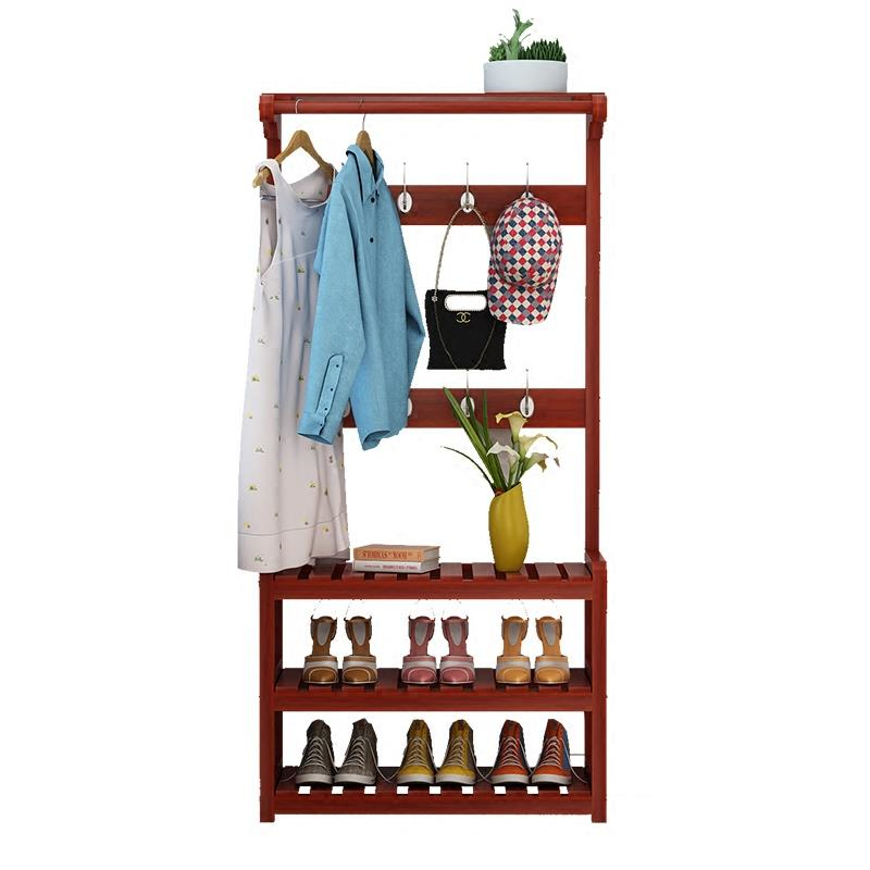 Wooden coat rack simple bedroom Floor hangers Shoe combination Multifunctional racks Household clothes shelves children s bookcase shelf bookcase cartoon toys household plastic toy storage rack storage rack simple combination racks