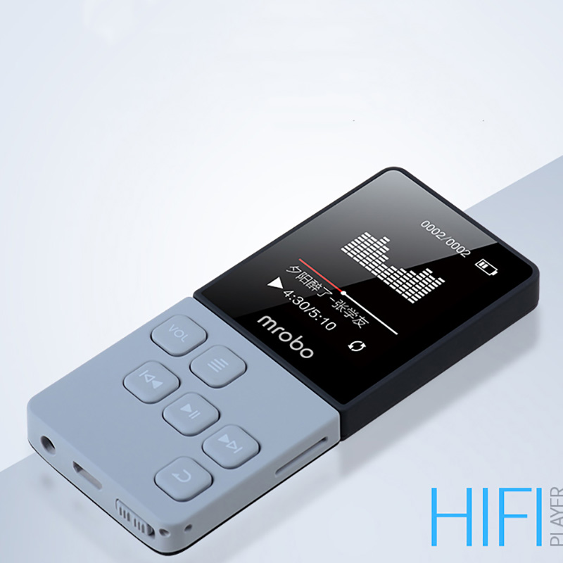 Mrobo HIFI MP4 Player Built-in Speakers High Sound Quality MINI Video player Support 64G TF Card FM E-book image