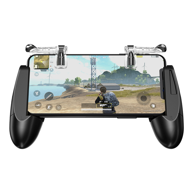 GameSir F2 Game Firestick Grip for Android & iOS Phone, 2 Triggers, Game Mount Bracket Trigger Fire Button Aim Key F PUBG Mobile 1