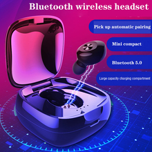 XG-D12 TWS Bluetooth 5.0 Earphone Stereo Wireless Earbus Sound Sport Earphones Handsfree Gaming Headset with Mic for Phone