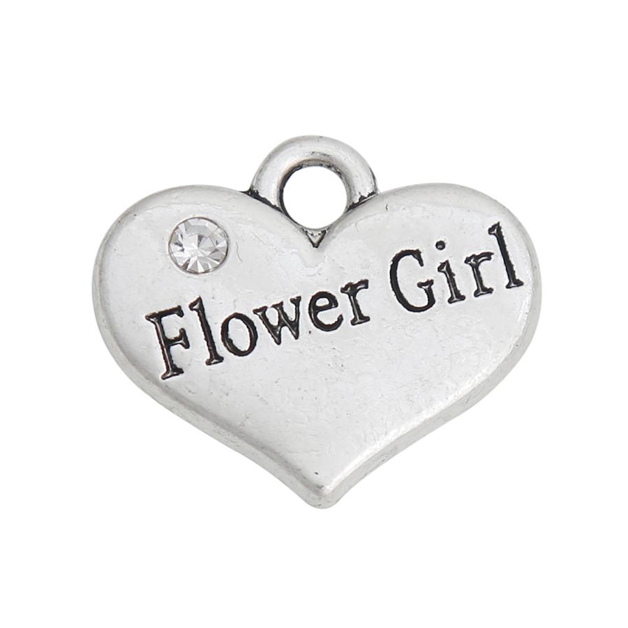 Free 50//200Pcs Tibetan Silver Hollow Heart Charms Pendant Fit Bracelet 13x16mm