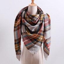 Winter warm scarf, plaid cashmere scarves shawls