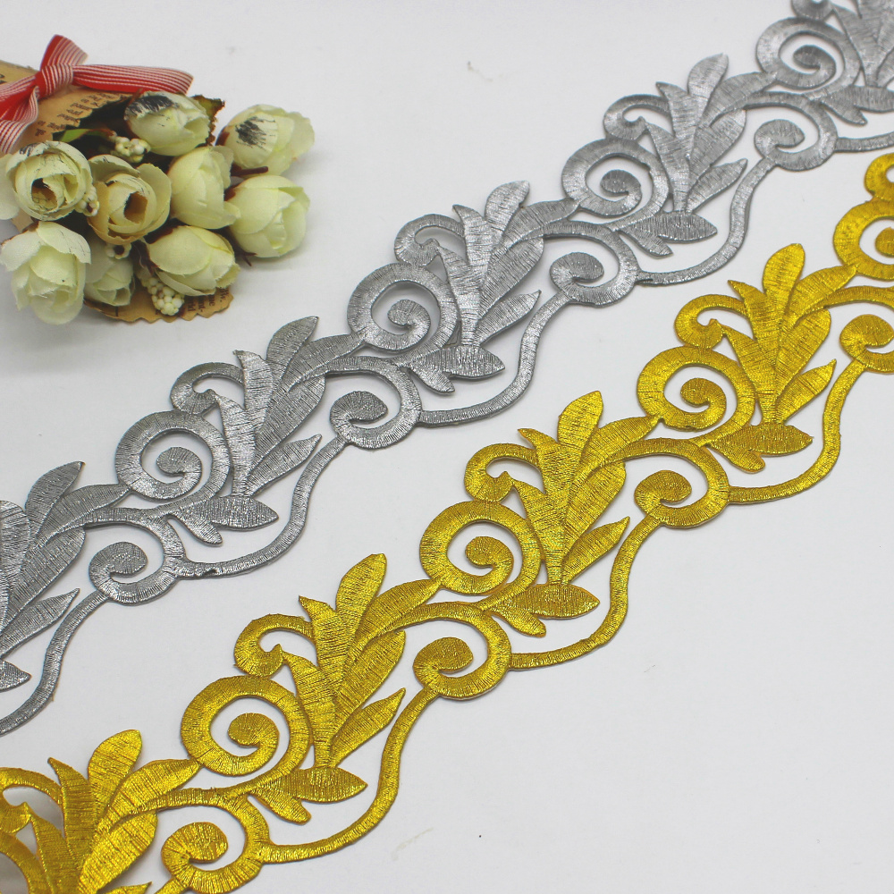 4 Meters Cos Costume Embroidery Lace Trim Dress Clothes Iron On Lace Applique