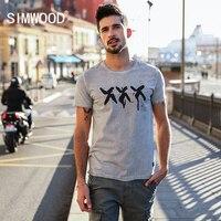SIMWOOD 2018 Summer Vintage T Shirt Men Slim Fit Fashion Short Sleeve Pattern Vintage Cotton Tops