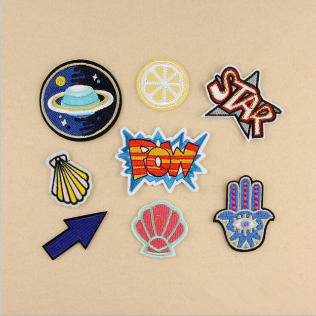 Милый Мультфильм Palm Патч Значки Компьютерная Вышивка Ручной Швейной Гладильная Наклейки На Ткани Одежды Шляпа Сумка Аксессуары 8 Стили