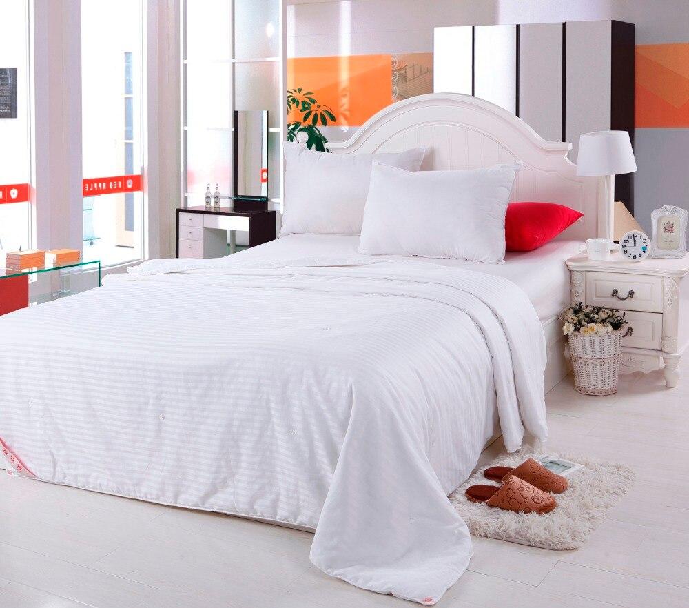 Luxury Cotton Comforter Bedding set Full Queen King Pink White Silk Throw Blanket Quilt For Winter