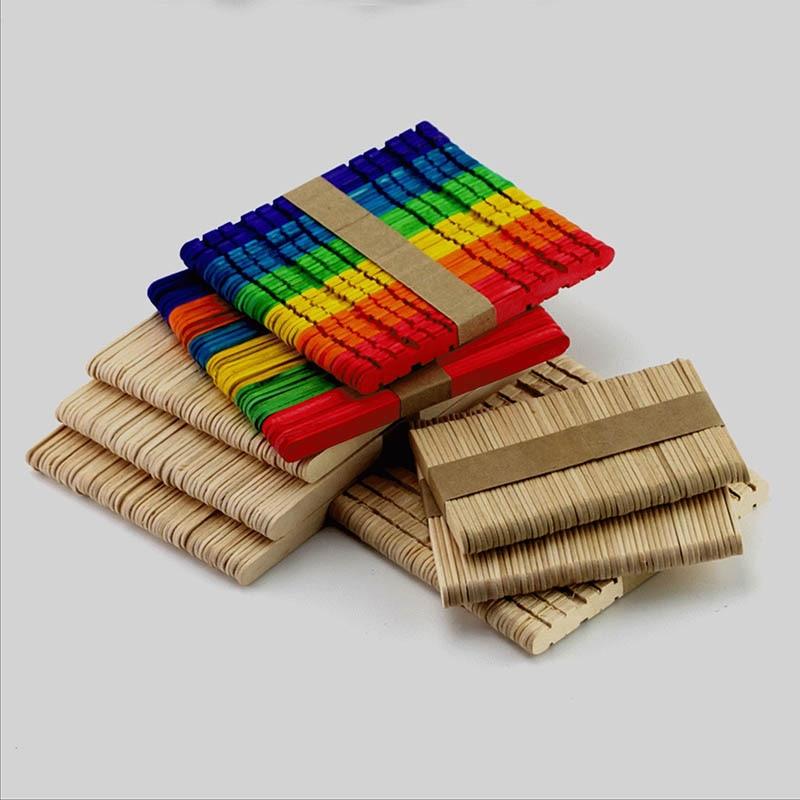 50 шт. бурливуд ледяная палочка для леденца натуральные деревянные палочки для мороженого дети ручной работы приготовление мороженого DIY палочки для сладостей