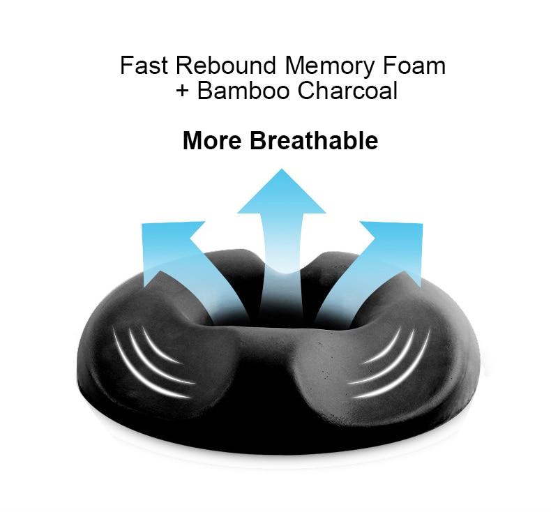 donut cushion pillow and  orthopedic medical seat hemorrhoid seat and tailbone cushion