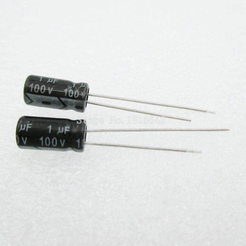 20PCS/LOT 1uF 100V Aluminum Electrolytic Capacitor 5*11 Electrolytic Capacitor 100v 1uf