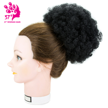 8inch Afro Short Kinky Curly Wrap Drawstring Puff Ponytail Bun Extension Synthetic Hairpiece hair Chignon Overhead Strands