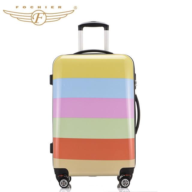Aliexpress.com : Buy 1 Piece Rainbow Printing 20 24 Hardside ...