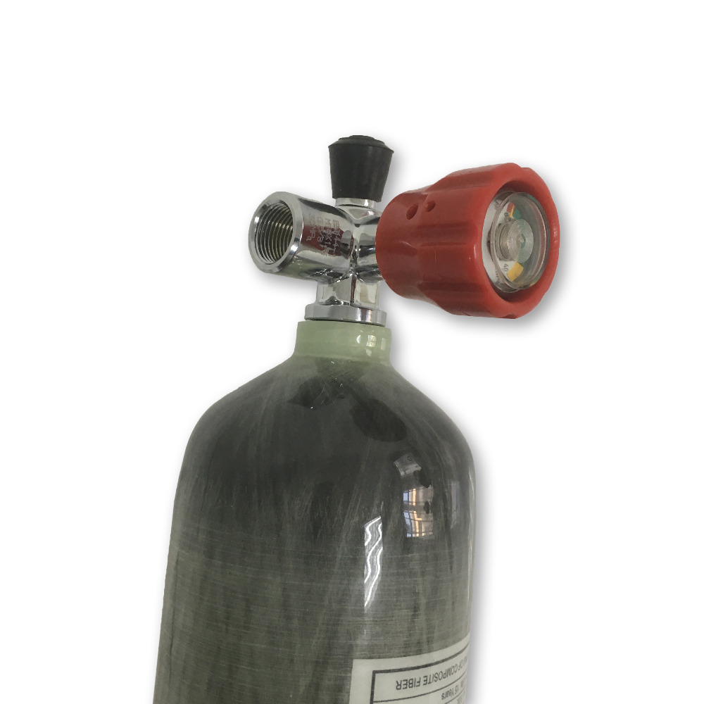ACECARE Hot Shooting Target Equipment PCP Paintball Air Tank 4500psi 3L Carbon Fiber Gas Cylinder With Gauge Valve