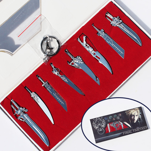 Final Fantasy Sword Key Chain Set