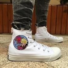 Wen diseño Original carpa Cyprinoid peonía tatuaje Top de los hombres  zapatos de skate blanco negro 58e50e933b368