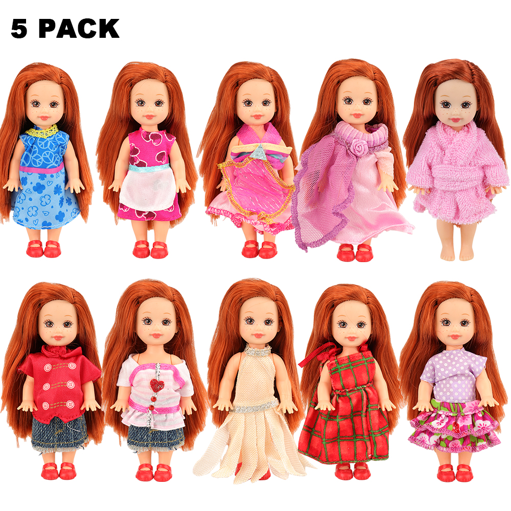 5Pairs 12cm  Doll Shoes Accessories Kelly Doll Confused Doll Shoes Kids Gift YL