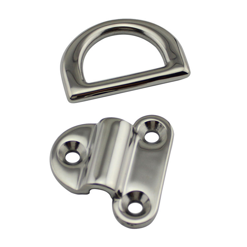 Image 4 - 6mm/8mm/10mm Stainless Steel D Ring Deck Folding Pad Eye Lashing Tie Down Cleat for Marine Yacht Boat Accessories-in Marine Hardware from Automobiles & Motorcycles