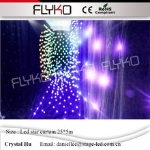 Soft Led Star Curtain high brightness LED Star Cloth  for DJ Stage Wedding Backdrops Light Curtain  5M*25M  цена и фото