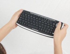 Mini teclado 2.4g sem fio trackball teclado com mouse e rato de ar combinação conjunto para casa tv android caixa de tv dvr pc mac