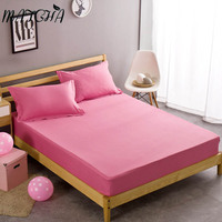Matcha Store 1 PC 100 Cotton Mattress Cover Not Fade Candy Colors Fitted Sheet Set Soft