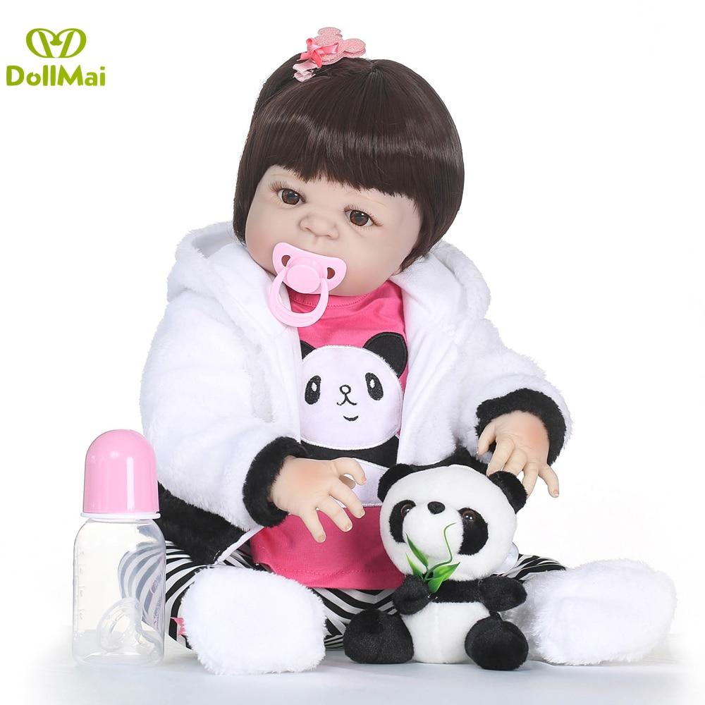 Dolls & Stuffed Toys Dolls Reborn Toddler Babies Doll Full Vinyl Newborn Silicone Reborn Baby Dolls Alive Bebes Reborn Bonecas Sexual Realista Toy Gift