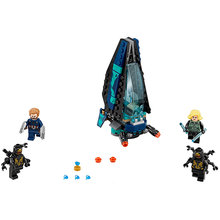 Upgraded Outrider Attack Lepin 07104 Building Blocks Toys for Children Compatible Legoing Super Heroes 76101 Kids