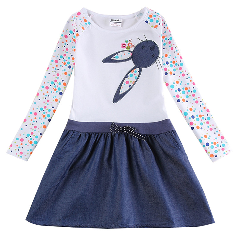 NOVATX 2-8t dziewczynka sukienki bawełna księżniczka Sukienka dla - Ubrania dziecięce - Zdjęcie 1