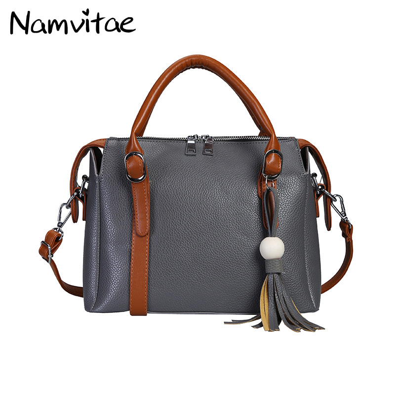Vintage Women Tassel Handbags Shoulder bag Famous Brand Designer Satchel Handbag High Quality Leather Ladies Tote bag Sac a main  tuladuo women designer handbags high quality alligator sac a main vintage famous brand shoulder bag new bolsos feminina sac tote