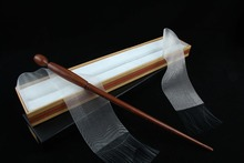 Newest Iron Core Har Potter  Death Easters Magical Wand In Ribbon Christmas Gift Box Free Train Ticket