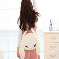 New Arrival Cartoon Cute White Fleece Small Rabbit Shoulder Bags Soft Pillow Fashion Casual Lady Shopping Handbags