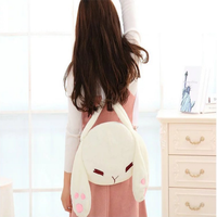 New Arrival Cartoon Cute White Fleece Small Rabbit Shoulder Bags Soft Backpack Pillow Fashion Casual Lady