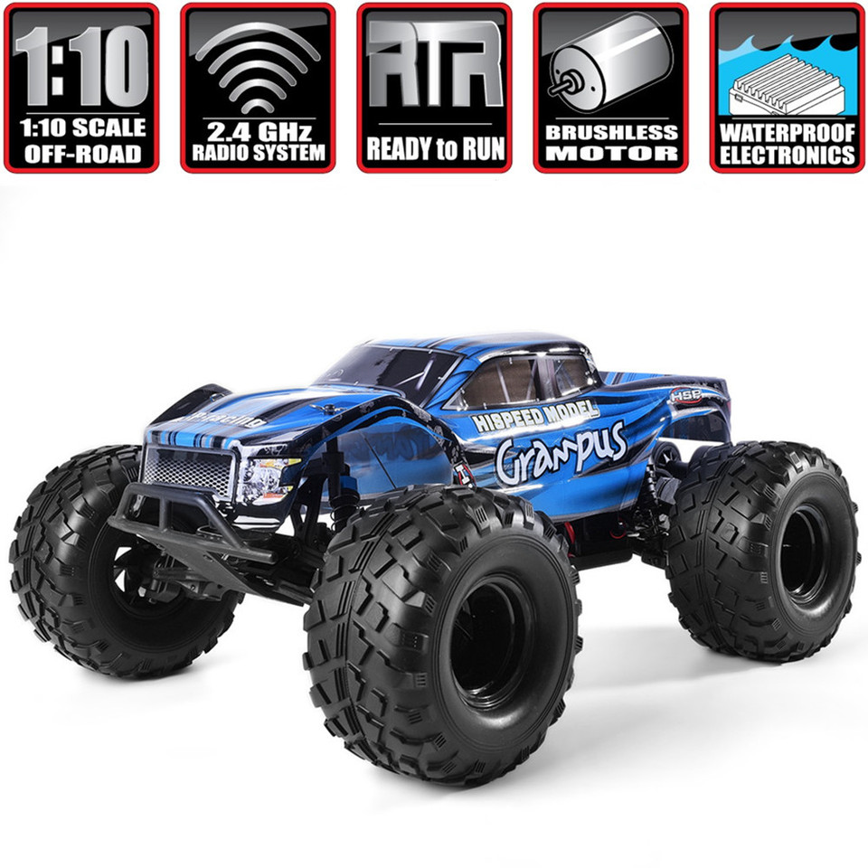 Hsp Rc Car 1 10 Scale Off Road Monster Truck 94601pro Electric Power Brushless Motor Lipo Battery High Speed Hobby Vehicle Toys Rc Cars Aliexpress
