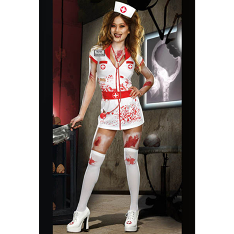Top Halloween New Japanese Women Sexy Hospital Doctor Costume Norma Lee Crazy Costume -1221