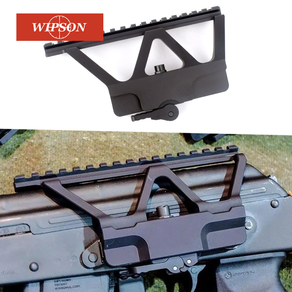 WIPSON Quick Detach QD AK Gun Side Rail Scope Mount with Picatinny Side Rail Mounting For AK 47 AK 74 Black Free Shipping lacywear серьги ak 181 vie