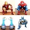 1pcs 3D Spiderman Iron Batman Airwalker Foil Helium Balloons Avengers Hero Birthday Party Decor Supplies Children