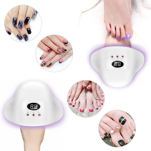 UV LED Nail Glue Curing Light 24W UV Nail Paint 12 LED Gel Paint Varnish Art Tool Nail Polish Gel Polish Oil 6