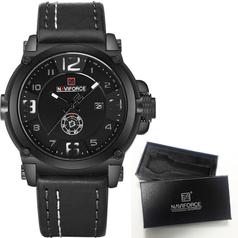 naviforce mens watches top brand luxury sport quartz watch. Black Bedroom Furniture Sets. Home Design Ideas