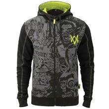 Игра Watch Dogs 2 DedSec хлопок толстовки мужские толстовки с длинным рукавом куртки Косплей Костюм Хэллоуин Рождественский подарок