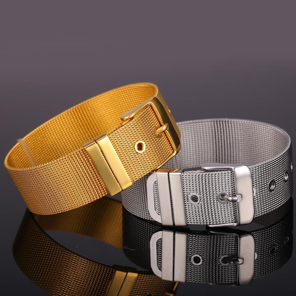 Gelang Keluli Tahan Karat U7 Perhiasan Lelaki Borong Emas Warna - Perhiasan fesyen - Foto 4