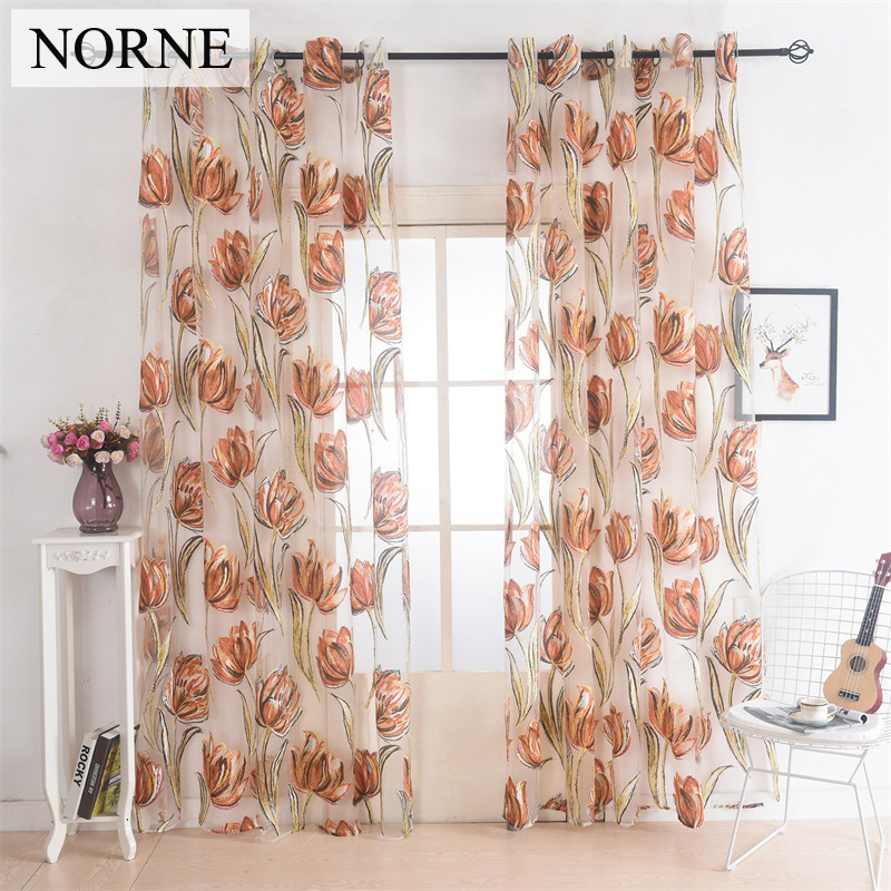Norne Semi Drapes Window Sheer Curtains Voiles Panel For