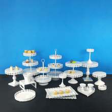 Tobs 1 piece White Cupcake Stand Cake Tray Lace Edge Home Decoration Dessert Table Wedding Party Suppliers Tools